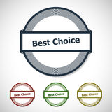 Vector Best choice badge Royalty Free Stock Photo