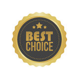 Vector Best Choice Gold Sign, Round Label Royalty Free Stock Photography