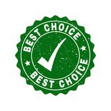 Best Choice Scratched Stamp with Tick stock illustration