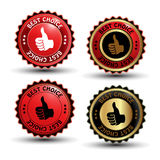 Vector best choice guaranteed labels Stock Image
