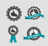 Vector Best Choice Label with Blue Ribbon Stock Image