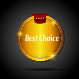 Vector best choice label with red ribbon. Stock Image