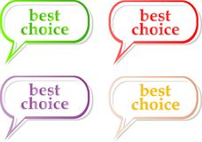 Vector best choice label stickers set Royalty Free Stock Photo