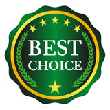 Vector best choice. Best choice label on white background, vector illustration Royalty Free Stock Image