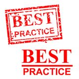 Best Practice, 2 style streak red rubber stamp royalty free stock images
