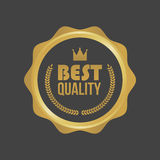 Vector Best Quality Gold Sign, Round Label.  Royalty Free Stock Photos