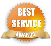 Vector best service award. Isolated vector best service award badge Stock Photography