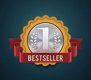 Vector bestseller badge Stock Images