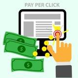 Vector betaal per klik Stock Afbeeldingen