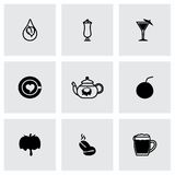 Vector Beverages icon set Royalty Free Stock Photos