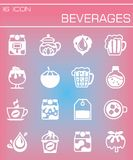 Vector Beverages icon set Stock Image