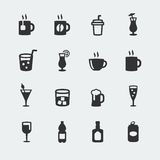 Vector beverages icons set Stock Image