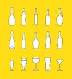 Vector beverages set Stock Images