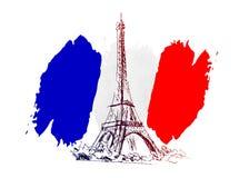 Vector beweging veroorzakend Frankrijk Stock Afbeelding