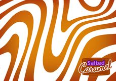 Vector Bg with Flowing Salted Caramel. Abstract Sweet Texture. Background for Packaging Design and Advertisement