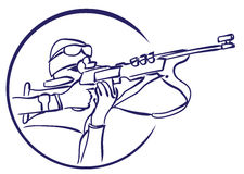 Vector biathlon logo Stock Photography