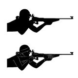 Vector biathlon shooter Stock Photography