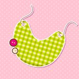 Vector Bib on Baby Arrival Card Stock Images