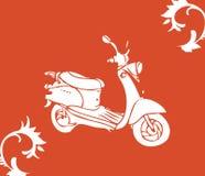 Vector a bicicleta do moto Imagens de Stock