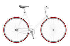 Vector bicycle. Bicycle isolated on white background, illustration vector illustration