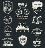Vector bicycle badges and labels. Collection Stock Photos