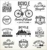 Vector bicycle badges and labels. Isolated on white background Stock Image