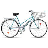 Vector Bicycle with Cart Royalty Free Stock Image