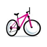 Vector Bicycle Cartoon Illustration. Royalty Free Stock Photo
