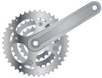 Vector bicycle cogwheel sprocket. Bicycle cogwheel sprocket crankset symbol  eps 10 Stock Photo