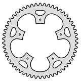 Vector bicycle crank. Vector illustration of a bicycle crank made of aluminium or steel Stock Photos