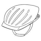 Vector of bicycle helmet. Hand drawn cartoon, doodle illustration royalty free illustration
