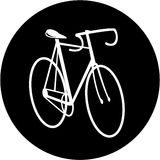 Vector bicycle icon Stock Photography