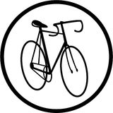 Vector bicycle icon Stock Photos