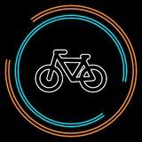 Vector Bicycle icon, vector stock illustration