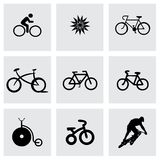 Vector bicycle icons set Stock Photos