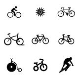 Vector bicycle icons set Royalty Free Stock Photos