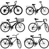 Vector Bicycle Pictogram Set 2 Stock Image
