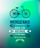 Vector bicycle poster. Bike race banner Royalty Free Stock Photography