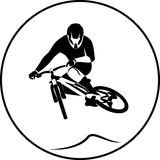 Vector bicycle racer Stock Photography