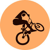 Vector bicycle racer Stock Photo