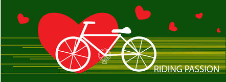 Vector bicycle riding passion exercise concept Stock Image