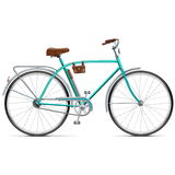 Vector Bicycle with Rounded Frame Royalty Free Stock Images