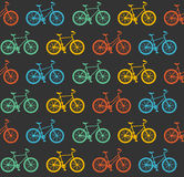 Vector Bicycle Seamless Pattern Royalty Free Stock Photography