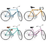Vector Bicycle Set Stock Image