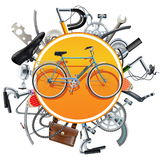Vector Bicycle Spares Concept with Bike Stock Photos