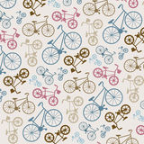 Vector bicycle texture, hipster background Stock Photos