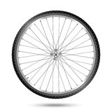 Vector Bicycle Wheel. Detailed vector bicycle wheel on white background royalty free illustration