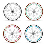 Vector Bicycle wheel set Stock Images