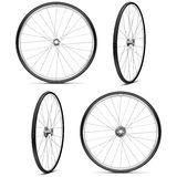 Vector Bicycle Wheels Royalty Free Stock Images
