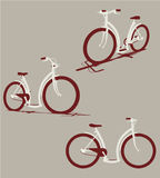 Vector bicycles Stock Images